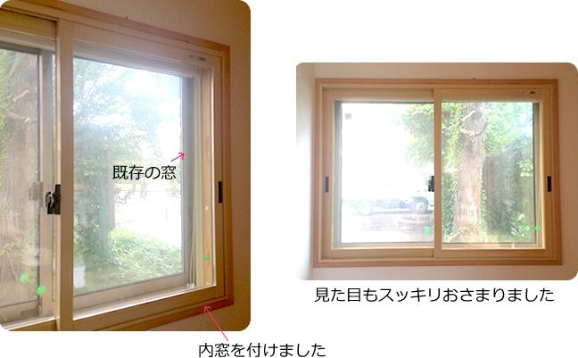 内窓設置の例